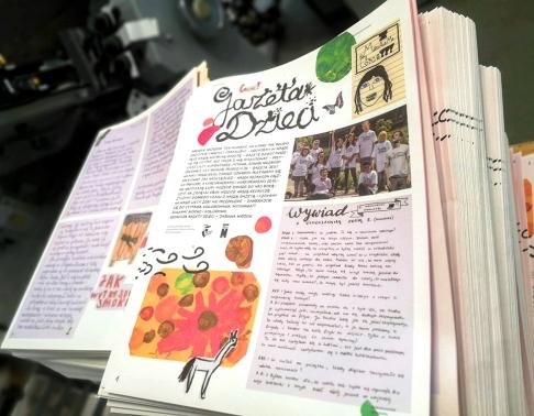 gazeta tworzona przez dzieci drukarnia offsetowa efekt warszawa